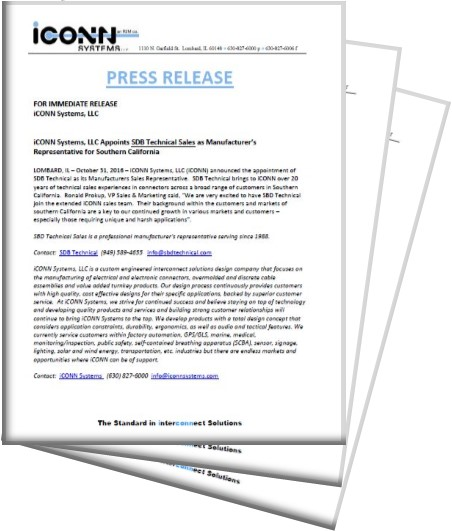 iCONN SYSTEMS PRESS RELEASE